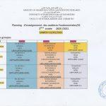 Planning L2 S3 Samedi 22